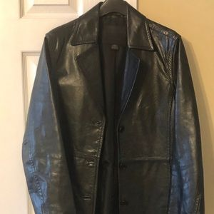 Authentic Coach 3/4 leather jacket - black